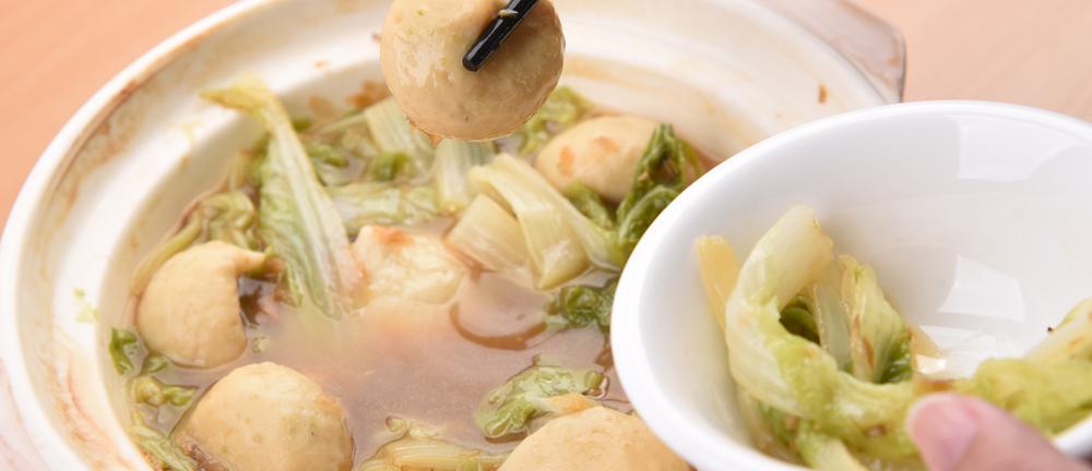 爆卵魚球滷白菜
