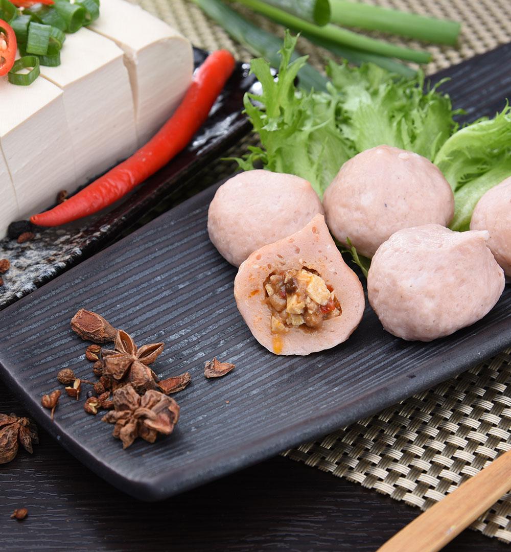 麻婆豆腐爆漿魚丸